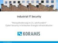 Cyber Security in kritischen Energie-Infrastrukturen