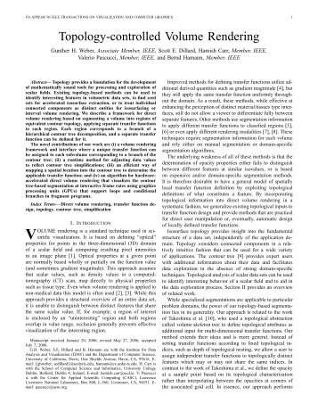 Topology-controlled Volume Rendering - CiteSeerX