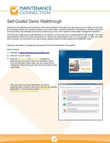 Basic Walkthrough Demo from Maintenance Connection - NFMT