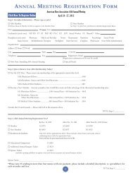 annual meeting registration form - American Burn Association