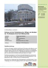 tel. TG-Stellplatz Ecke Karl-/Mathystraße - weststadtmakler.de