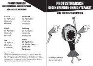 Flyer der Plattform Bleiberecht (pdf) - No Racism