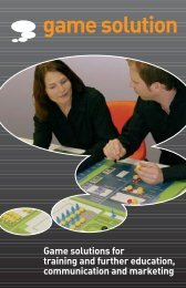 Game solutions for training and further education ... - game solution ag