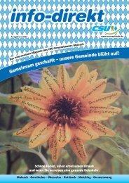 info-direkt 2013 Ausgabe 1 - CSU