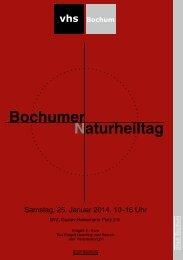 Das Programmheft zum 16. Bochumer Naturheiltag