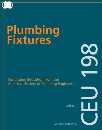Plumbing Fixtures - American Society of Plumbing Engineers