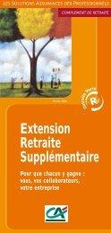 Extension Retraite Supplémentaire Pour que chacun y gagne