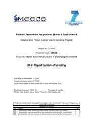 Report on kick off meeting - meece
