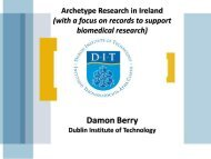 Experiences from Ireland using archetype methodology for clinical ...