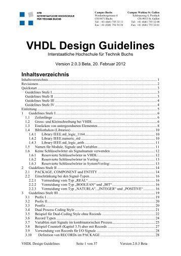 VHDL Design Guidelines