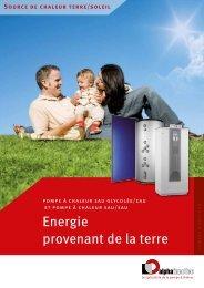 Energie provenant de la terre - Nathan Import/Export