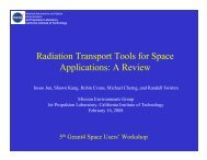 Radiation Transport Tools for Space Applications: A Review - X-ray ...