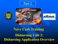 Unit 2: Part 2 Disbursing Application Overview