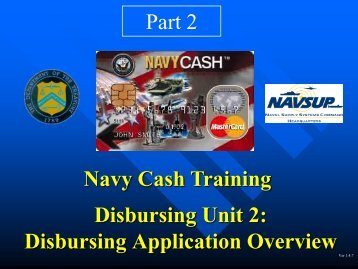 Unit 2: Part 2 Disbursing Application Overview