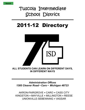 2011-12 directory - Tuscola Intermediate School District
