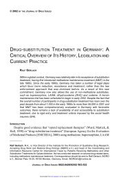 drug-substitution treatment in germany: a critical overview of its ...