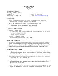 DENISE A. JONES Curriculum Vitae May 2012 Mason School of ...