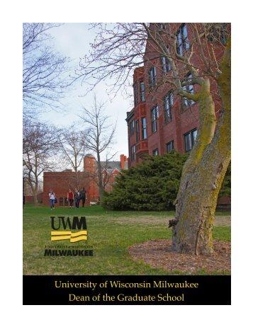 Dean of the Graduate School - UW-Milwaukee
