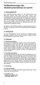 Tarifbestimmungen und Beförderungsbedingungen - Saarland-tarif.de - Seite 4