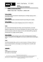Manuskript: Deals. Gerechtigkeit als Handelsware. - WDR 5
