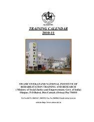 TRAINING CALENDAR 2010-11 - National Institute of Rehabilitation ...