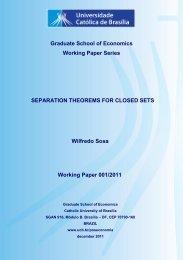 Graduate School of Economics Working Paper Series SEPARATION ...