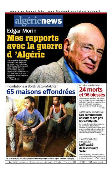 Fr-11-08-2013 - Algérie news quotidien national d'information