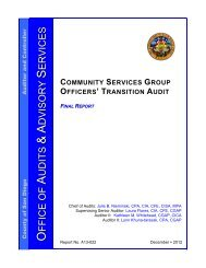 Transition Audit – CSG (Haas to Estrella) - County of San Diego