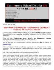 600+ tomcats prepare to graduate on friday! - East Aurora School ...