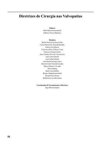 Diretrizes de Cirurgia nas Valvopatias - Publicações - Sociedade ...