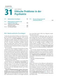 Ethische Probleme in der Psychiatrie - Psychische Erkrankungen
