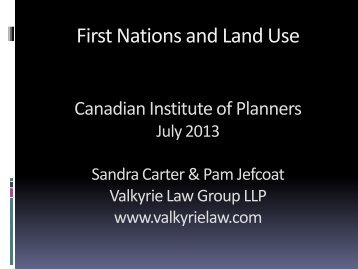 Context, Case Law, and Consultation with First Nations - Infuse 2013