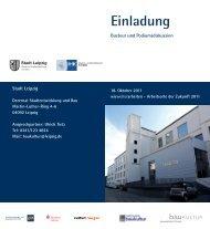 Einladung - Stadt Leipzig
