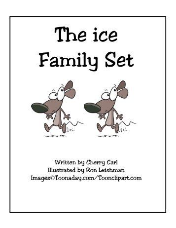 ice word family set  carlu0027s corner &