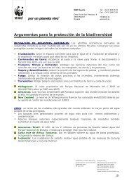 Argumentos para la protección de la biodiversidad - WWF