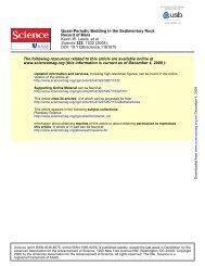 Quasi-Periodic Bedding in the Sedimentary Rock - Division of ...