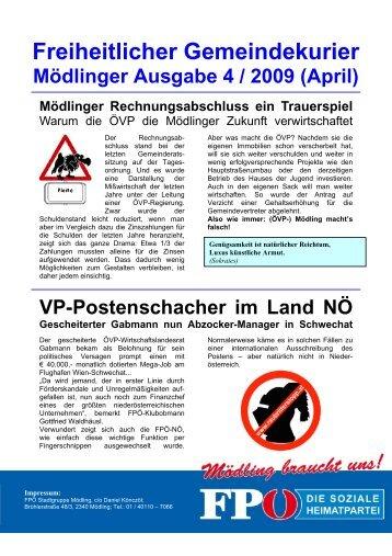 Freiheitlicher Gemeindekurier - FPÖ-Mödling - Fpö nö