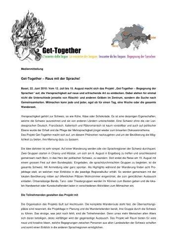 Get-Together – Raus mit der Sprache! - Lia Rumantscha