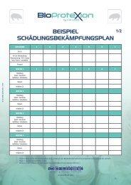 BEISPIEL SchädLIngSBEkämPfungSPLan - cid lines