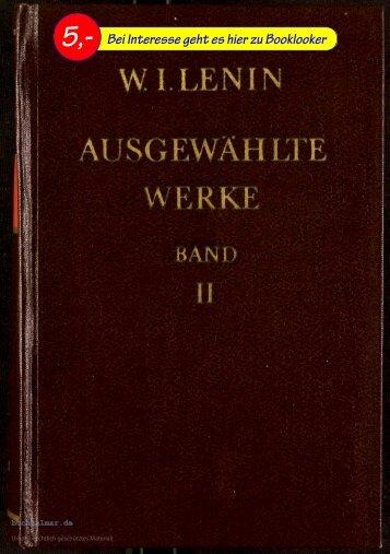 W. I. Lenin Ausgewählte Werke Bd. 2