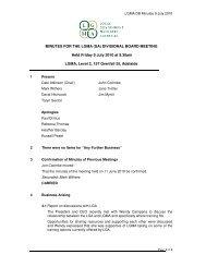 DB Minutes July 2010 - LGMA (SA)