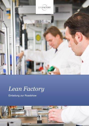 Einladung zur Lean Factory Roadshow Informationsveranstaltung