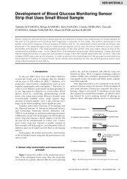 Development of Blood Glucose Monitoring Sensor Strip that Uses ...