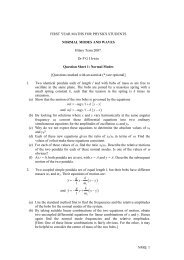 FIRST YEAR MATHS FOR PHYSICS STUDENTS NORMAL MODES ...
