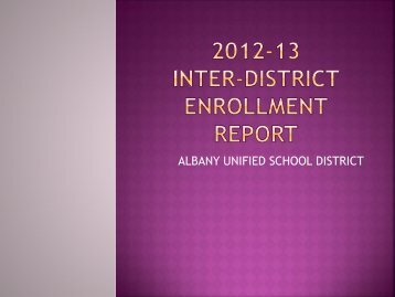 2012-13 INTER-DISTRICT TRANSFER REPORT - Albany Unified ...