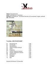 Album: Deutschstunde Label: Synthetikraum ... - Ionium Records
