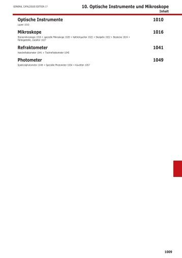 10. Optische Instrumente und Mikroskope Optische ... - Wies-Software