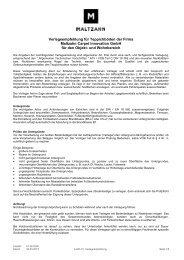 Verlegeempfehlung für Teppichböden - Maltzahn Carpet Innovation