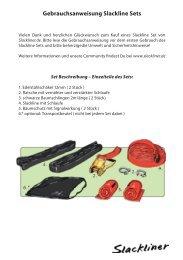 Gebrauchsanweisung Slackline Sets - Slackliner.de