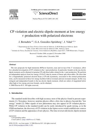 CP violation and electric-dipole-moment at low energy τ production ...